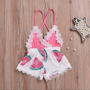 Other - Baby Girls Backless Strap Romper